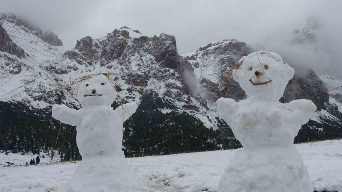 Coup de froid sur les Dolomites !